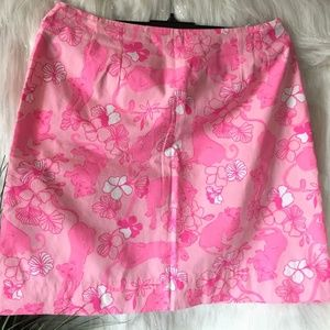 Lilly Pulitzer pink panther skirt in size 10